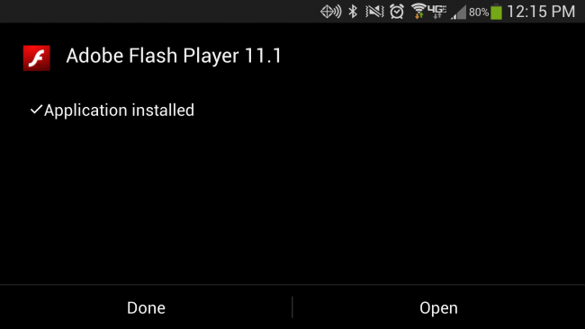 I recently installed Flash Player for Android on my Samsung Galaxy SIV