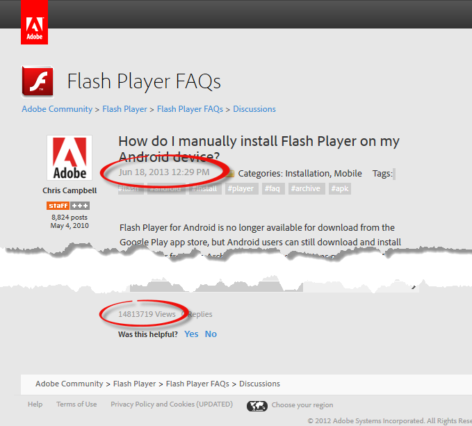 Flash Player Android Article