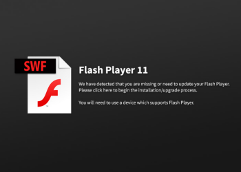If the domain is allowed but they have no Flash Player (or an old version)... they see this.