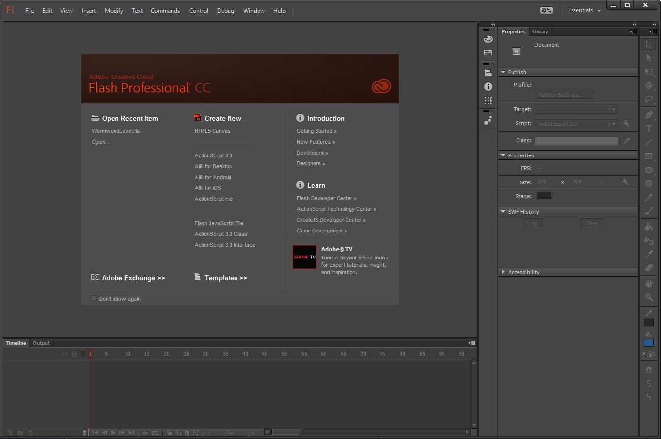 Flash Professional CC (13.1) – December 2013 Release