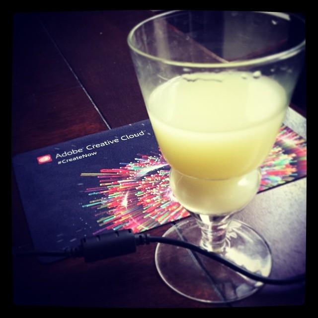 A celebratory absinthe!