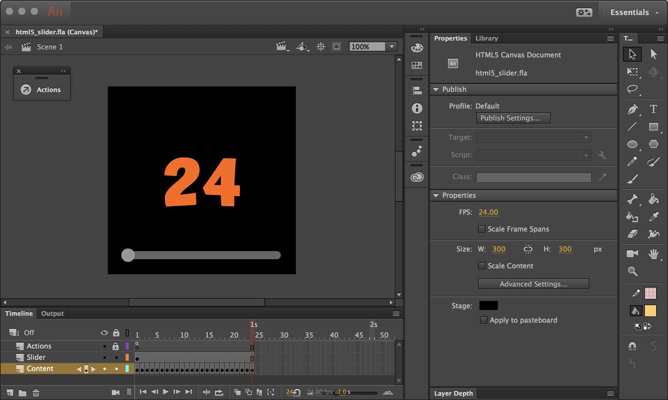 Animate CC: HTML5 Canvas Timeline Scrubber – In Flagrante Delicto!